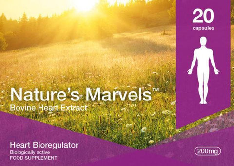 Nature's Marvels – Heart Bioregulator with Chelohart - 20 Caps