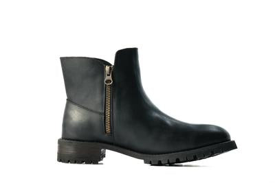 Black chic safety boots for women from Juno Jones