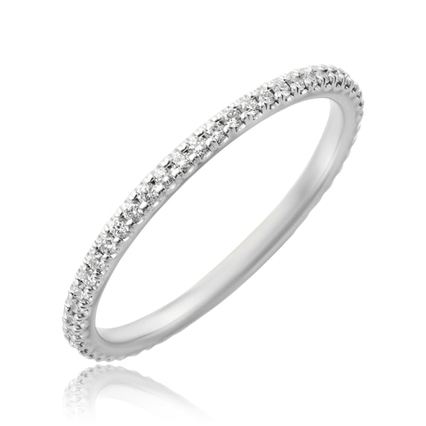 0.26 ctw Diamond Band in 18kt WG
