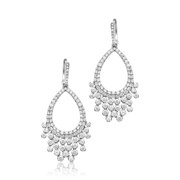 3.76 ctw Diamond Chandelier Earrings in 18kt WG