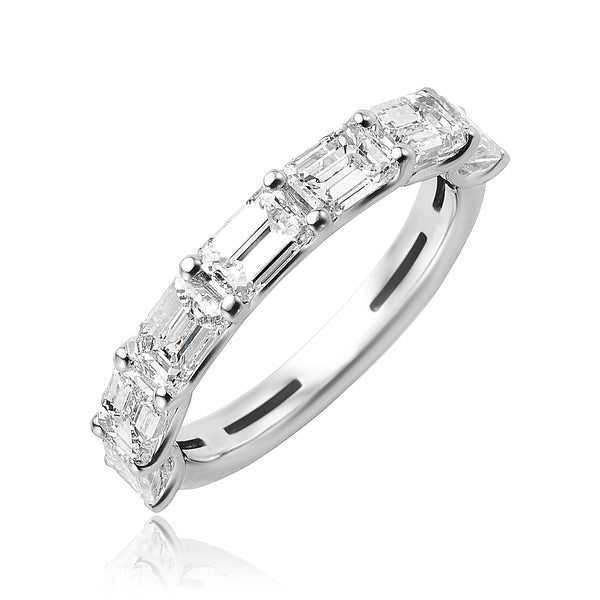0.98 ctw Baguette Diamond Anniversary Ring in Platinum