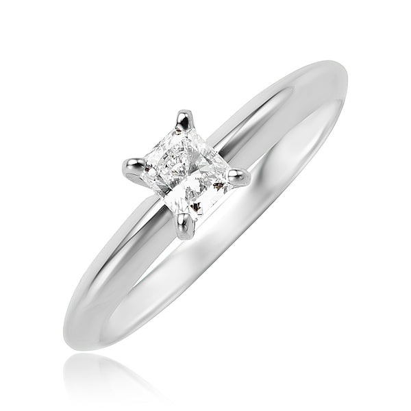 0.29 ct Radiant Diamond Solitaire Ring in 14kt WG