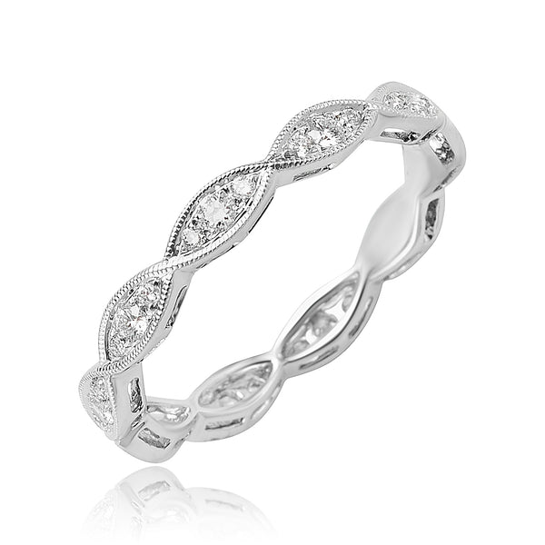 0.30 ctw Diamond Stackable Band in 18kt WG