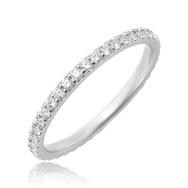 0.49 ctw Round Brilliant Cut Diamond Eternity Band in Platinum