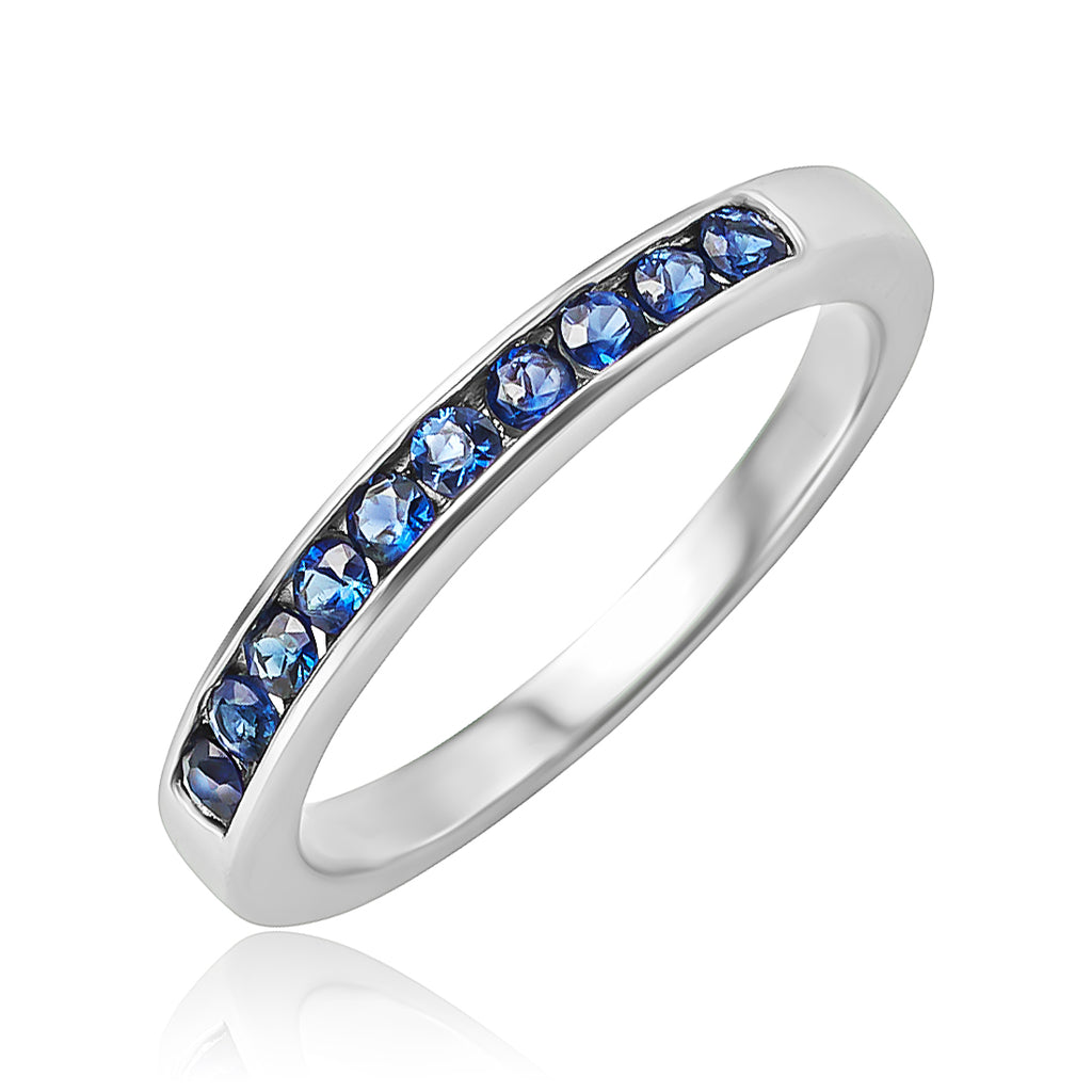 0.25 ctw Channel Set Sapphire Band in Platinum