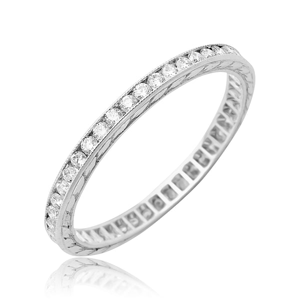 0.50 ctw Round Brilliant Cut Diamond Channel Set Eternity Band in 18kt WG