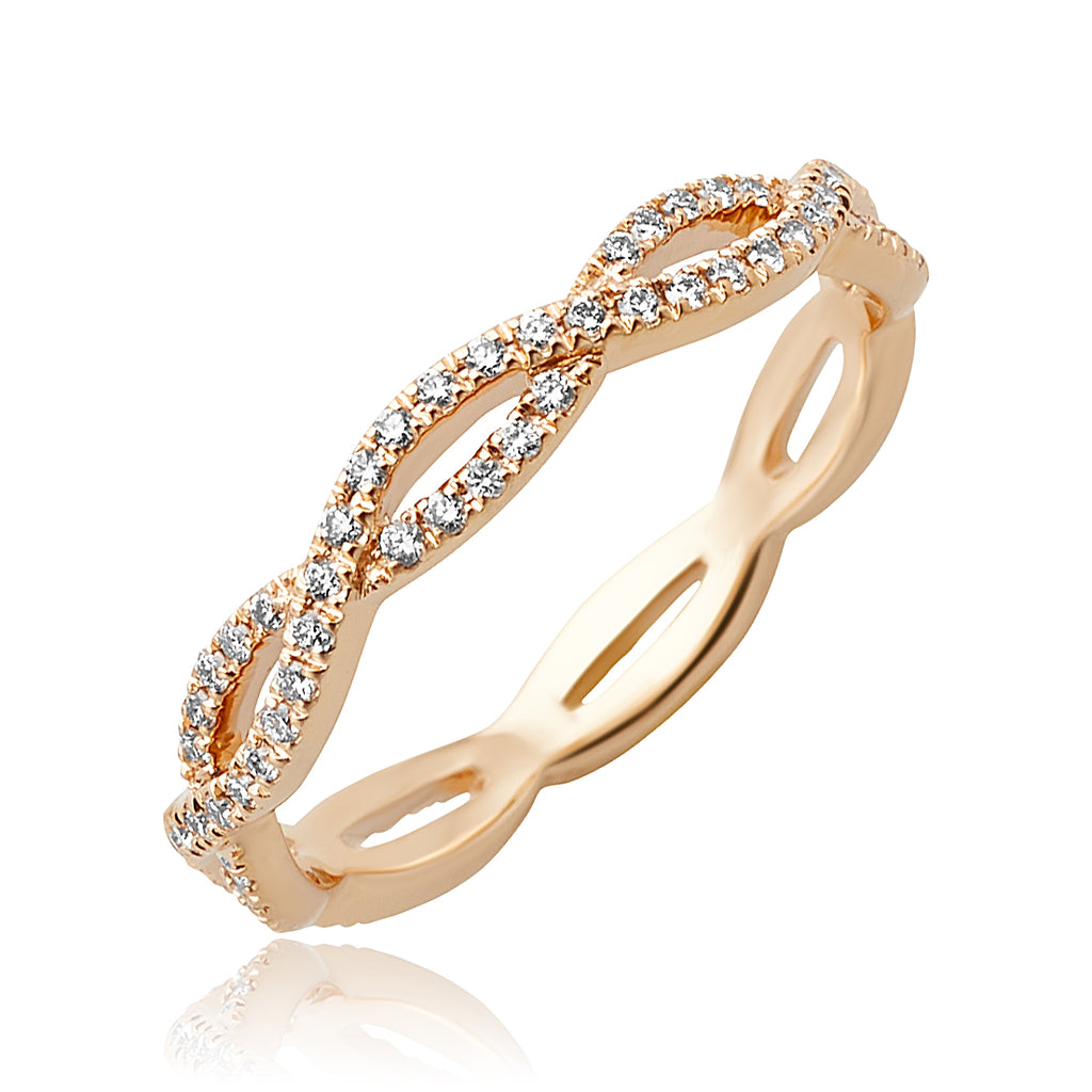 0.30 ctw Diamond Infinity Stackable Band in 18kt RG