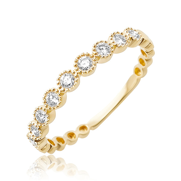 0.29 ctw Diamond Stackable Band in 18kt YG