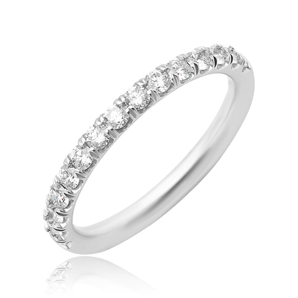 0.50 ctw Round Brilliant Cut Diamond Band in 18kt WG