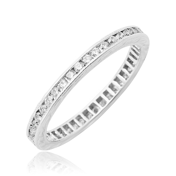 0.40 ctw Round Brilliant Cut Diamond Eternity Band in 18kt WG