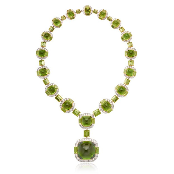 Peridot & Diamond Suite with 91.83ct Center Stone & 175.47ctw of Peridot with 10.69ctw Diamonds