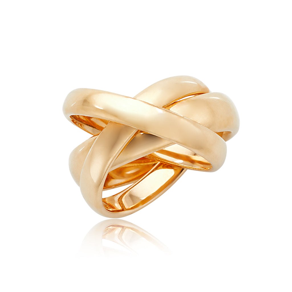 Cartier Tri-Gold Rolling Ring in 18kt YG