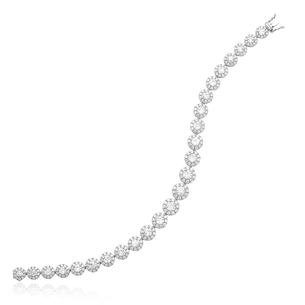 5.09ctw Old Mine Diamonds & 2.80ctw Round Brilliant Cut (RBC) Diamond Bracelet in 18kt WG