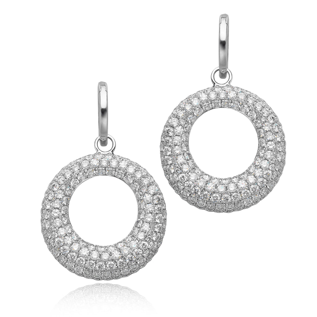 7.29ctw Diamond Circle Earrings in 18kt WG