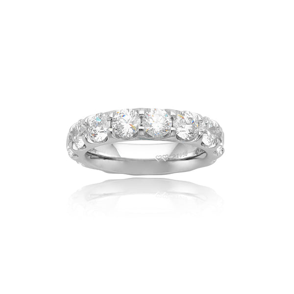 4.75ctw Round Brilliant Cut (RBC) Eternity Band in Platinum