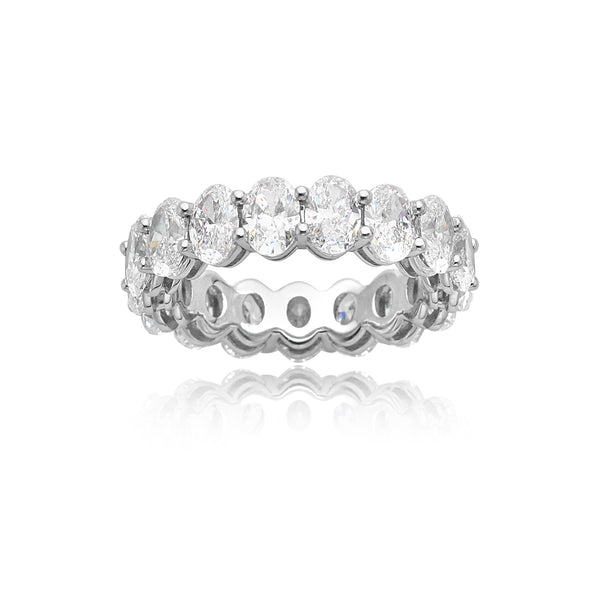 5.50ctw Oval Brilliant Cut Diamond Eternity Band in Platinum