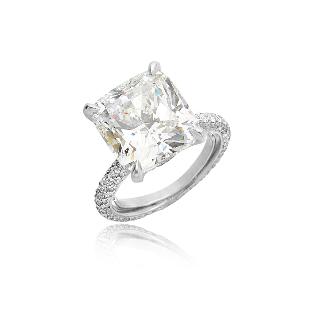 8.88ct Cushion Diamond I SI1 (GIA) Ring in Platinum