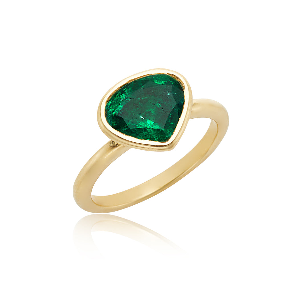 Marina B 2.71ct Emerald Ring in 18kt YG