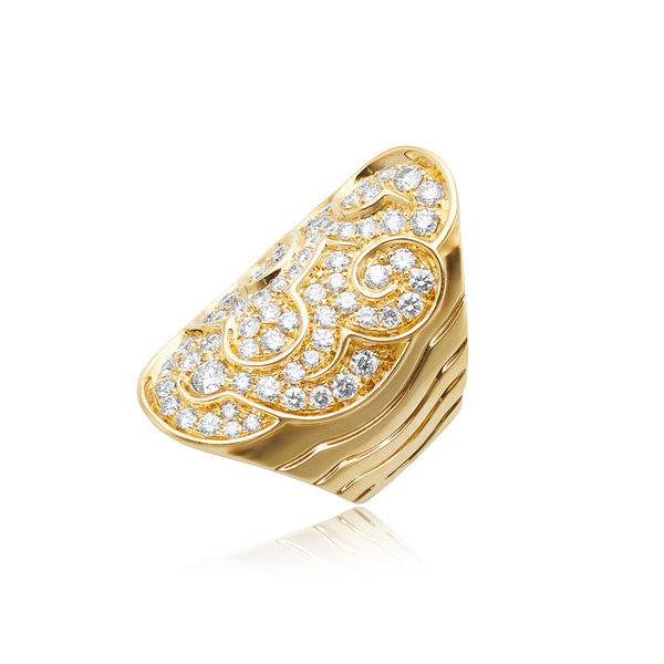 Marina B 1.80ctw Diamond Filigree Ring in 18kt YG