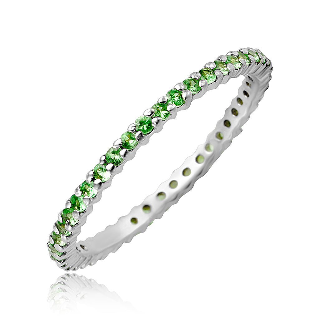 0.43 ctw Tsavorite Eternity Band in 18kt WG