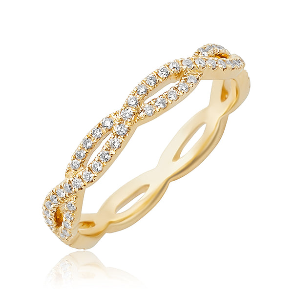 0.28ctw Diamond Infinity Stackable Band in 18kt YG