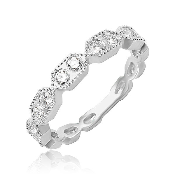0.33 ctw Diamond Stackable Band in 18kt WG