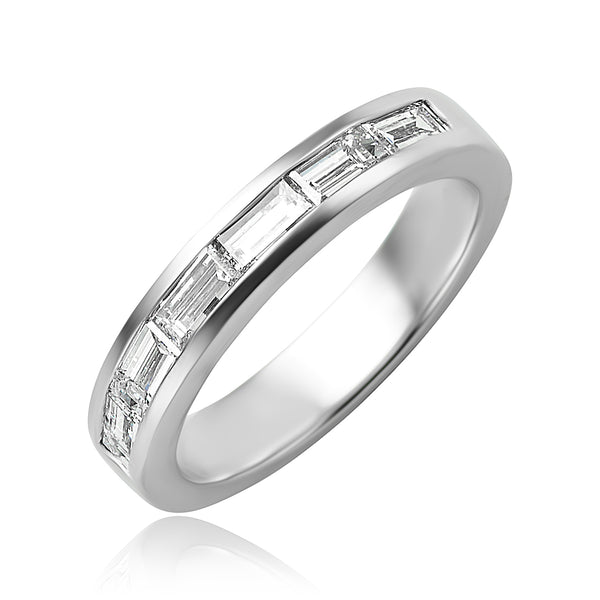 1.00 ctw Baguette Cut Diamond Channel Set Band in Platinum