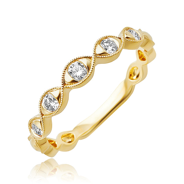 0.23 ctw Diamond Stackable Band in 18kt YG