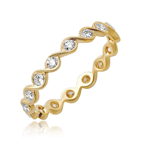 0.45 ctw Round Brilliant Cut Diamond Stackable Band in 18kt YG