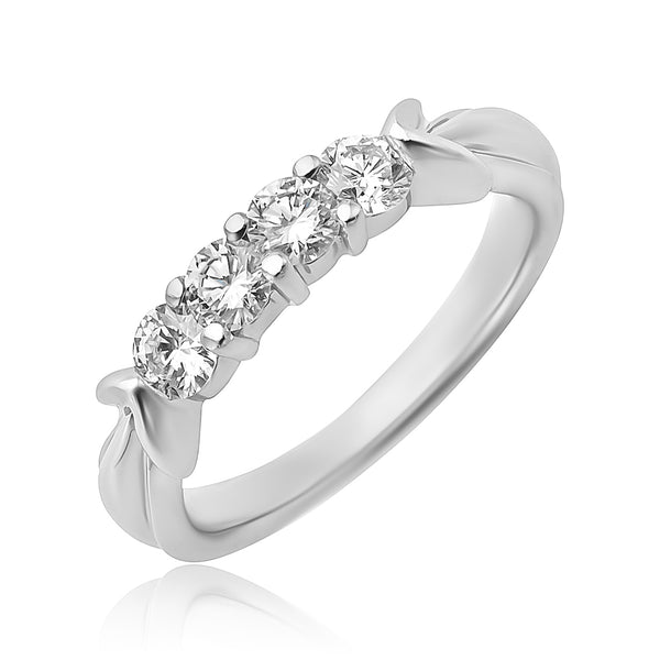 0.65 ctw 4-Stone Round Brilliant Cut Diamond Ring in Platinum