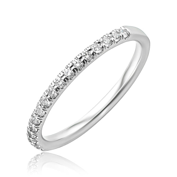 0.33 ctw Diamond 1/2 Round Eternity Band in Platinum