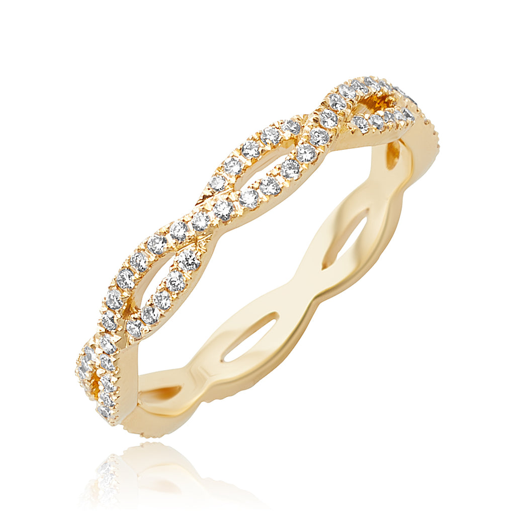 0.30 ctw Diamond Infinity Stackable Band in 18kt YG