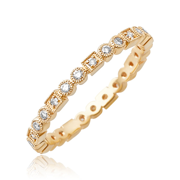 0.33 ctw Diamond Stackable Band in 18kt RG