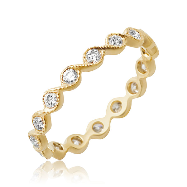 0.50 ctw Round Brilliant Cut Diamond Stackable Band in 18kt YG
