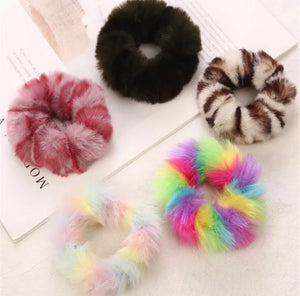 Fur Winter Scrunchies
