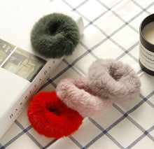 Load image into Gallery viewer, Deluxe Fur Winter Scrunchies