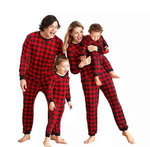 Oliver Plaid Matching PJ Set