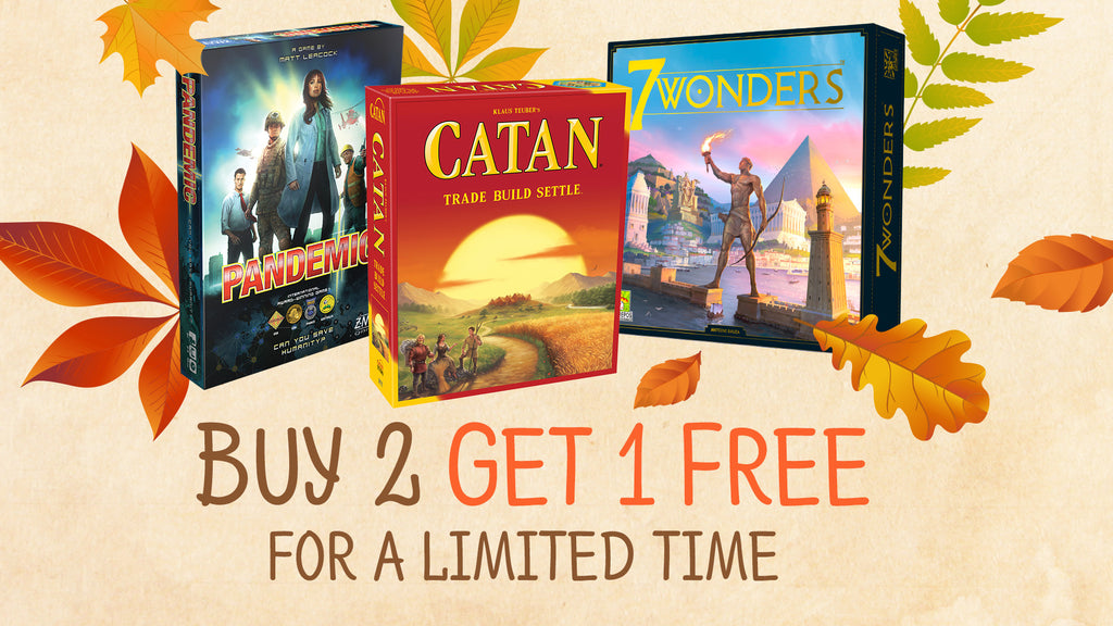 Asmodee Buy 2 Get 1 Free Sale Now until October 18th!