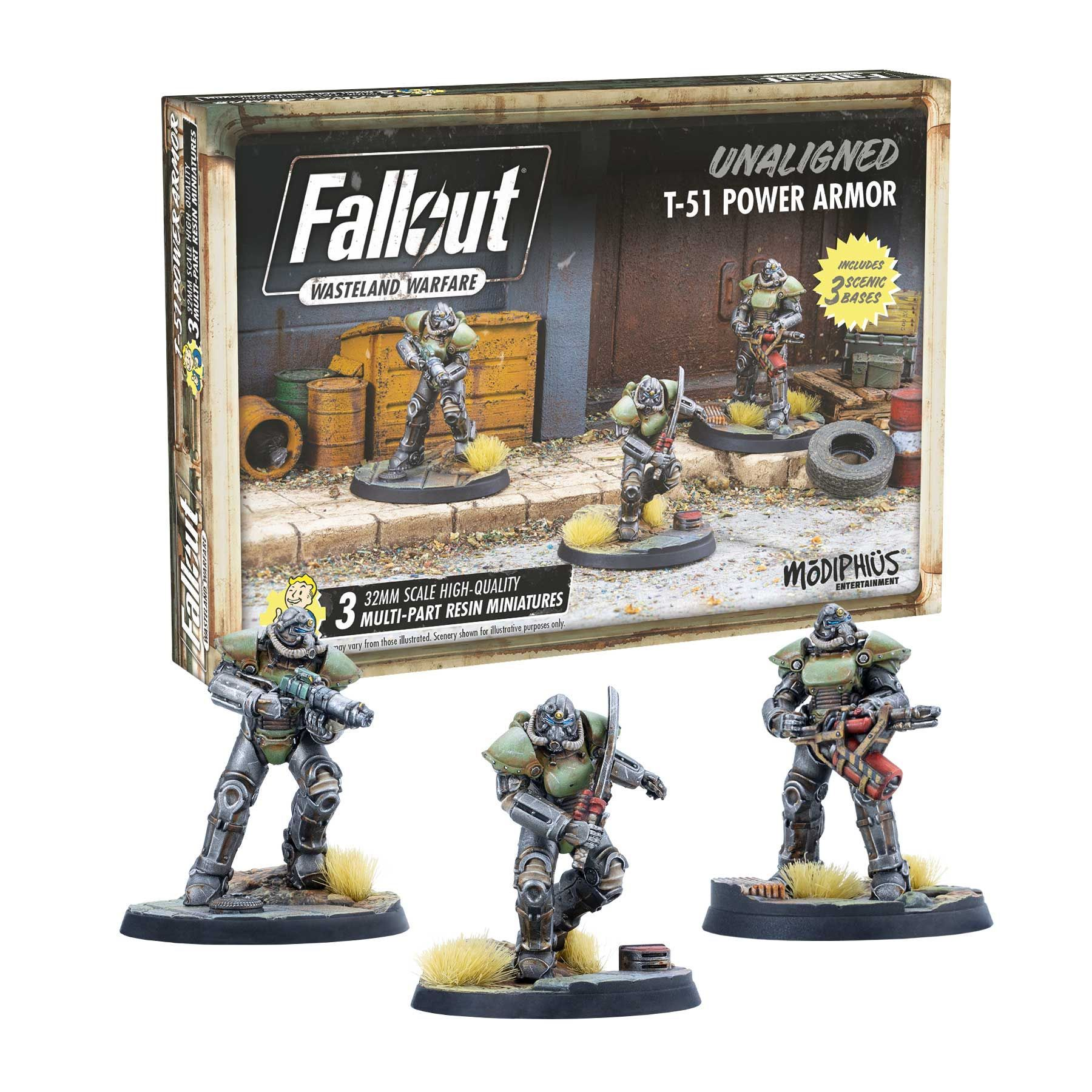Fallout Wasteland Warfare: Unaligned T-51 Power Armor | Games King Store