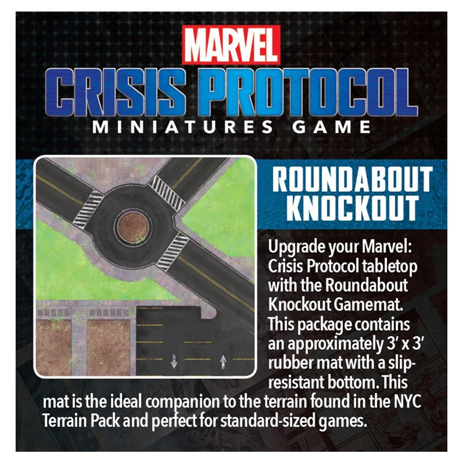 Marvel: Crisis Protocol - Roundabout Knockout Game Mat | Games King Store