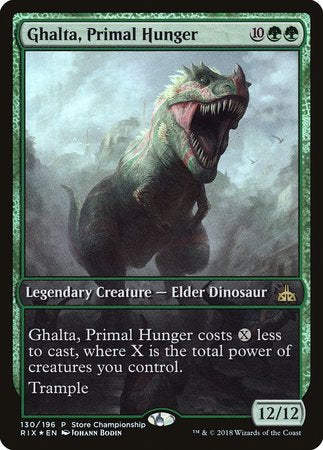 Ghalta, Primal Hunger [Rivals of Ixalan Promos] | Games King Store