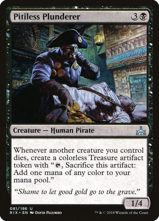 Pitiless Plunderer [Rivals of Ixalan] | Games King Store