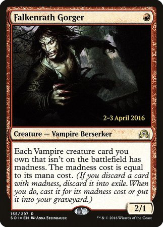 Falkenrath Gorger [Shadows over Innistrad Promos] | Games King Store