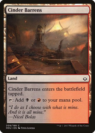 Cinder Barrens [Hour of Devastation] | Games King Store