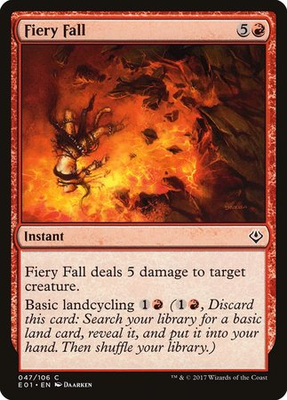 Fiery Fall [Archenemy: Nicol Bolas] | Games King Store