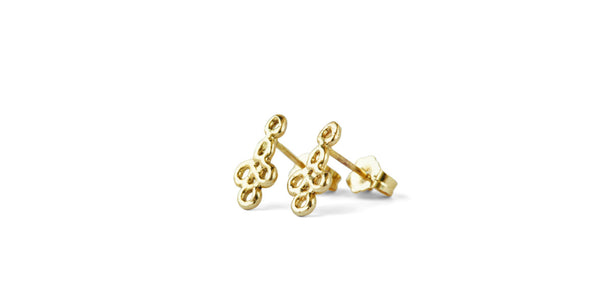 tiny willow's lace studs 10ky gold