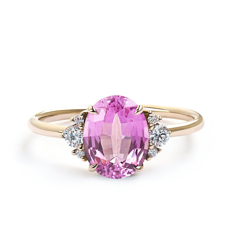 2 Carats Pink Sapphire Ring
