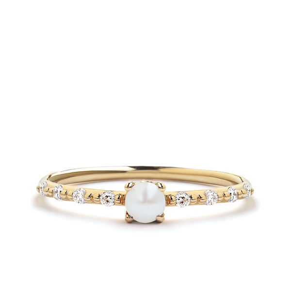 Dainty Pearl Promise Ring