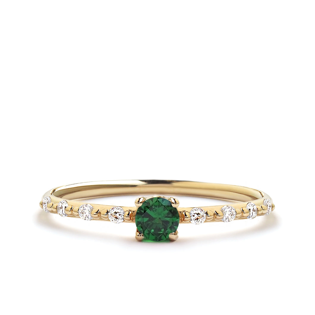 Emerald Promise Ring