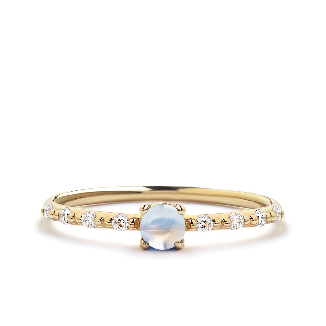 Moonstone Promise Ring